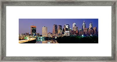 Us, Pennsylvania, Philadelphia Skyline Framed Print by Panoramic Images