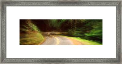 Usa , California, Marin County, Road Framed Print by Panoramic Images
