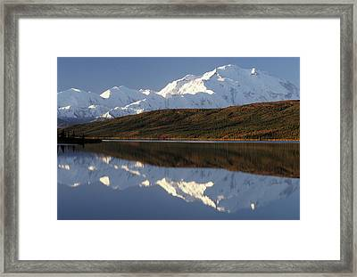 Usa, Alaska, Mount Mckinley, Wonder Framed Print