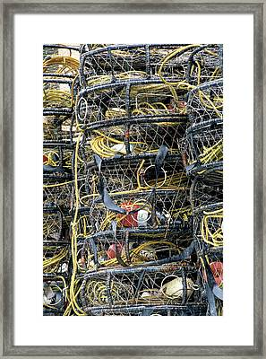 Usa, Alaska, Wrangell, Crab Pots Framed Print