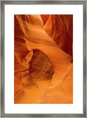 Usa, Arizona, Lower Antelope Canyon Framed Print