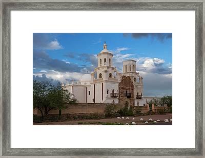 Usa, Arizona, Tucson, Mission San Framed Print