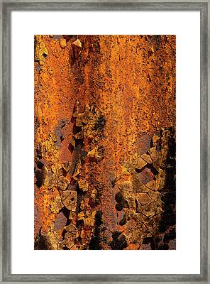 Usa, Arizona, Tucson, Texture Framed Print by Peter Hawkins