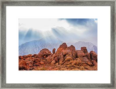 Usa, California, Alabama Hills Framed Print by Jaynes Gallery