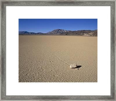Usa, California, Death Valley, Stone Framed Print