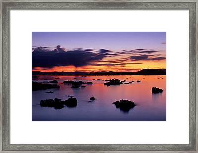 Usa, California, Lee Vining, Sunrise Framed Print by Ann Collins