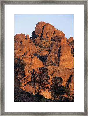 Usa, California, Sunset, High Peaks Framed Print