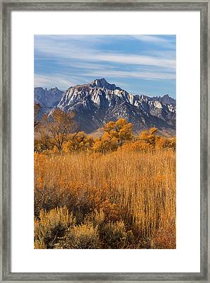 Usa, California View Of Lone Pine Peak Framed Print