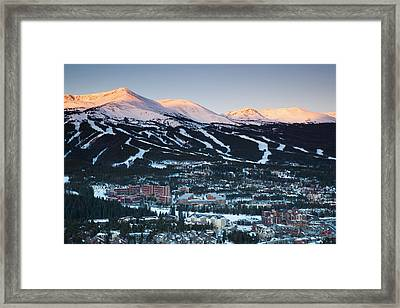 Usa, Colorado, Breckenridge, Elevated Framed Print by Walter Bibikow