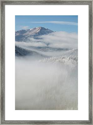 Usa, Colorado Clouds Fill The Valleys Framed Print by Jaynes Gallery