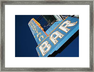 Usa, Colorado, Leadville, Sign Framed Print by Walter Bibikow