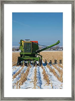 Usa, Colorado, Montrose, Combine Framed Print by Walter Bibikow