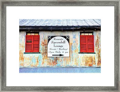 Usa, Florida, Apalachicola, Old Tin Framed Print