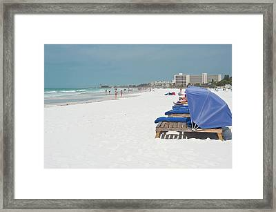 Usa, Florida, Sarasota, Crescent Beach Framed Print