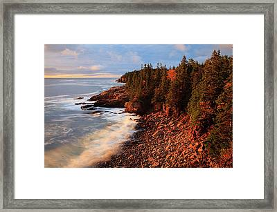 Usa, Maine, Acadia National Park, Ocean Framed Print by Joanne Wells