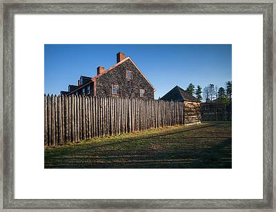 Usa, Maine, Augusta, Old Fort Western Framed Print