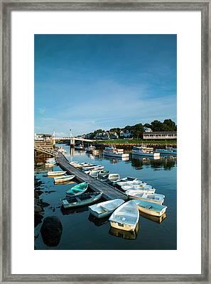 Usa, Maine, Ogunquit, Perkins Cove Framed Print