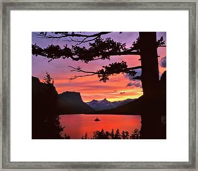 Usa, Montana, Glacier National Park Framed Print by Jaynes Gallery