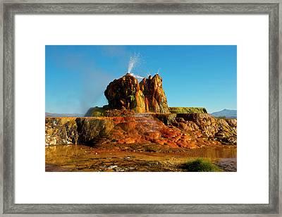 Usa, Nevada, Gerlach, Fly Geyser, Black Framed Print by Bernard Friel