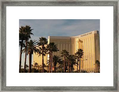 Usa, Nevada Mandalay Bay Resort Framed Print by Michael Defreitas