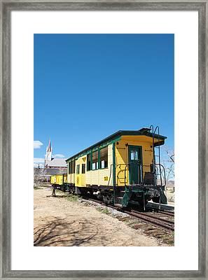 Usa, Nevada Old Steam Train Engine Framed Print