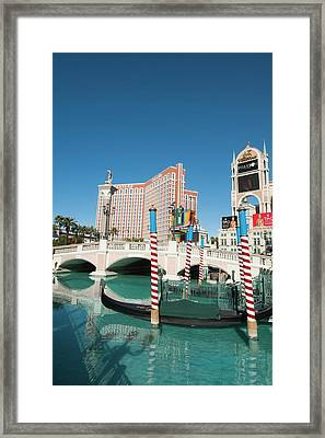 Usa, Nevada Venetian Resort Hotel Framed Print by Michael Defreitas