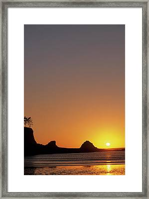 Usa, Oregon, Astoria, Sunset, Sunset Framed Print
