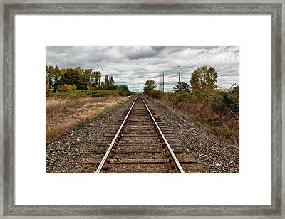 Usa, Oregon, Brooks, Railroad, Digital Framed Print by Rick A Brown