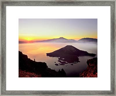 Usa, Oregon, Crater Lake National Park Framed Print by Jaynes Gallery
