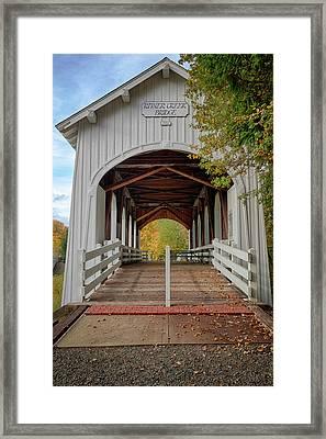 Usa, Oregon, Pedee, Minnie Ritner Framed Print