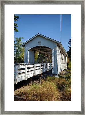 Usa, Oregon, Scio, The Larwood Bridge Framed Print