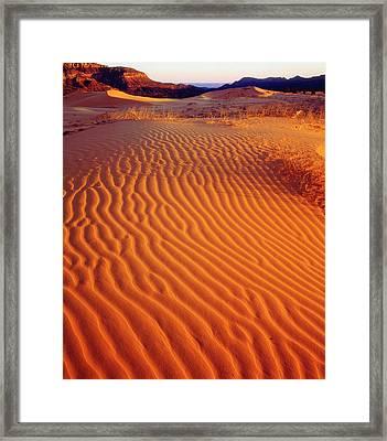 Usa, Utah Coral Pink Sand Dunes Framed Print by Jaynes Gallery