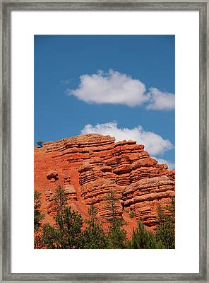 Usa Utah, Red Canyon In Dixie National Framed Print by Lee Foster