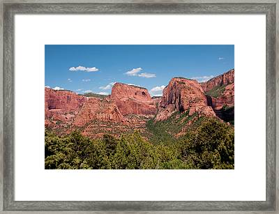Usa Utah, Zion National Park Framed Print