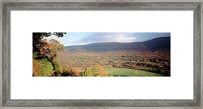 Usa, Vermont, Manchester, Autumn View Framed Print by Walter Bibikow