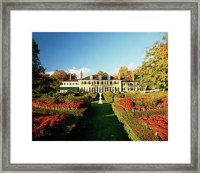 Usa, Vermont, Manchester, Hildene Home Framed Print by Walter Bibikow