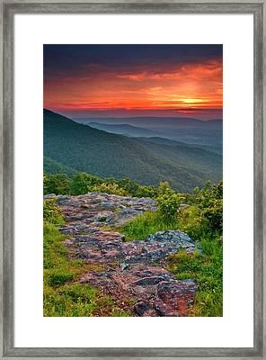 Usa, Virginia, Franklin Cliff Overlook Framed Print by Jaynes Gallery