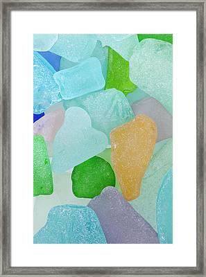Usa, Washington Close-up Of Colorful Framed Print