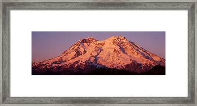 Usa, Washington, Mount Rainier National Framed Print