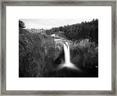 Usa, Washington State, Salish Lodge Framed Print by Charles Crust