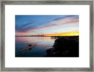 Usa, Washington State, Seattle Framed Print by Gary Luhm