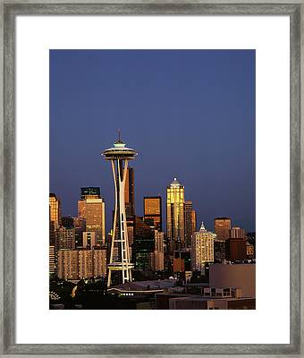 Usa, Washington State, Seattle, Space Framed Print