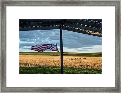 Usa, Washington State, Whitman County Framed Print by Alison Jones