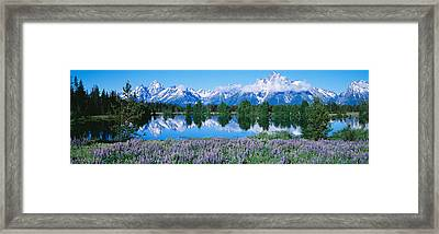 Usa, Wyoming, Grand Teton Park Framed Print by Panoramic Images