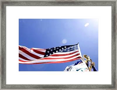 U.s.flag Framed Print