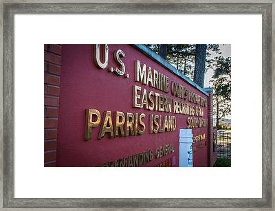 Marine Recruit Depot Framed Print