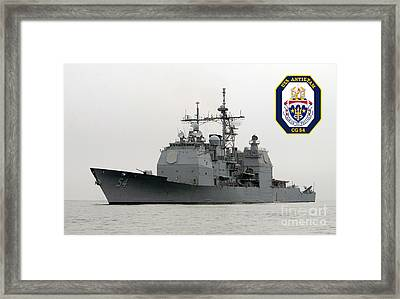 Uss Antietam Framed Print by Baltzgar