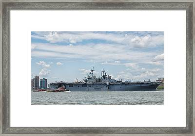 Uss Kearsarge Framed Print by Jim Poulos