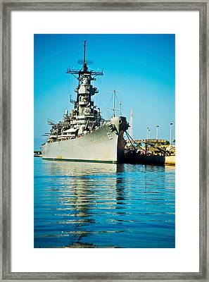 Uss Missouri, Pearl Harbor, Honolulu Framed Print