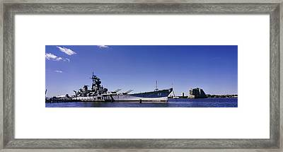 Uss New Jersey Battleship, Camden, New Framed Print by Panoramic Images